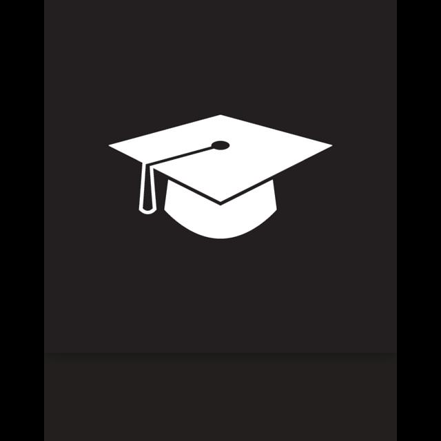 mirror, graduation icon