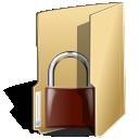 locked, folder icon
