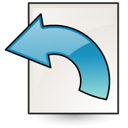 revert, document icon