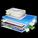 folder, blue icon