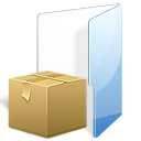 folder, tar, zip, box icon
