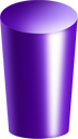 purple, cylinder icon