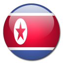 north, country, korea, flag icon