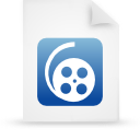 paper, document, file, blue icon