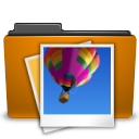 Folder, Image, Orange, Picture icon