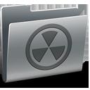 folder, burn icon