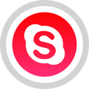 logo, social, skype, media icon