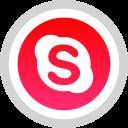 logo, social, skype, media icon