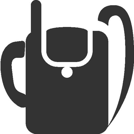 military, backpack, radio icon