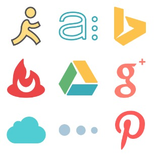Brands Flat icon sets preview