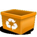 orange,user,trash icon