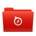 red, folder, sites, new, soda icon
