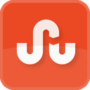 square, stumble upon, stumbleupon, orange icon
