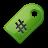 green, tag icon