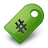 tag,green icon