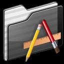 Applications, Black, Folder icon