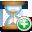 hourglass, add icon