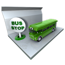 stop, bus, public transportation icon