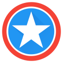 superhero, saver, super, captain, america, captainamerica, hero icon