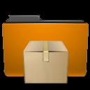tar, orange, folder icon