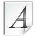 a, letter, font, type icon