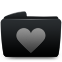 heart, folder icon