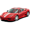 automobile, transport, transportation, ferrari, racing car, sports car, vehicle, car icon