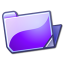 violet, folder, open icon