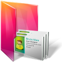 Aurora, Contacts, Folders, texto icon