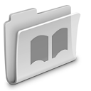folder, grey, library icon