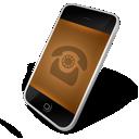 phone, orange icon
