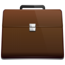 my briefcase, briefcase, work icon