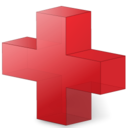 red,cross icon