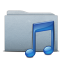folder,graphite,music icon