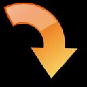 arrow, correct, ok, forward, right, object, yes, next, rotate icon
