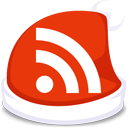 feed, rss, xmas, subscribe, red icon