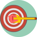 define the goal, target, mission icon