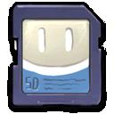 sd, happy icon