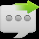 message bubble send icon