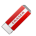 delete, clean, eraser icon