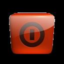 Down, Red, Shut icon