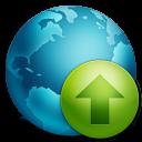 rise, up, ascending, globe, increase, ascend, upload icon