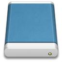 blue,external,drive icon