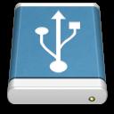 Blue External Drive USB icon