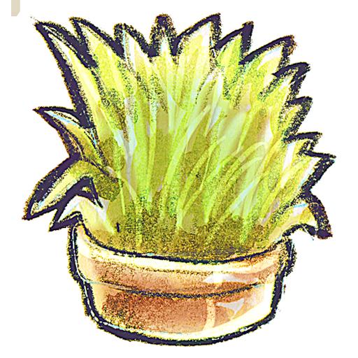 grass, flowerpot icon