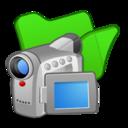 folder,green,video icon