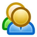 friends, persons, people, users, group icon