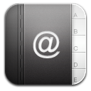 contacts black 2 icon