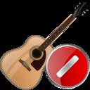 guitar,cancel,instrument icon