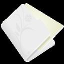 folder flower light grey icon